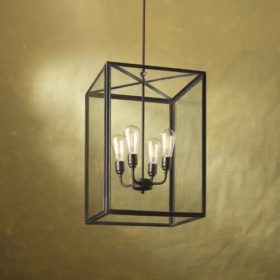 Ilford Large pendant weathered brass
